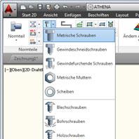 ATHENA 2D CAD Schnittplan